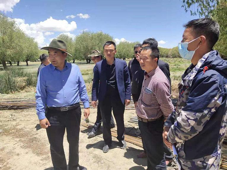 西藏自治区环保厅罗杰厅长等众多领导莅临扎囊县污水处理厂考评工作