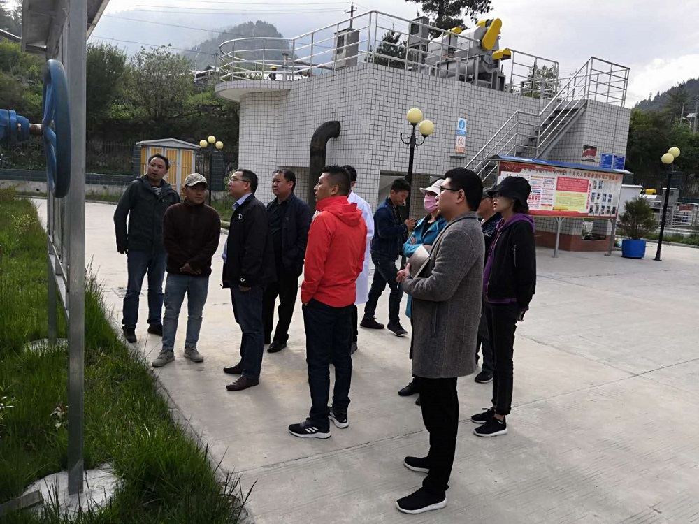 西藏自治区水利部领导莅临亚东县污水处理厂考察工作